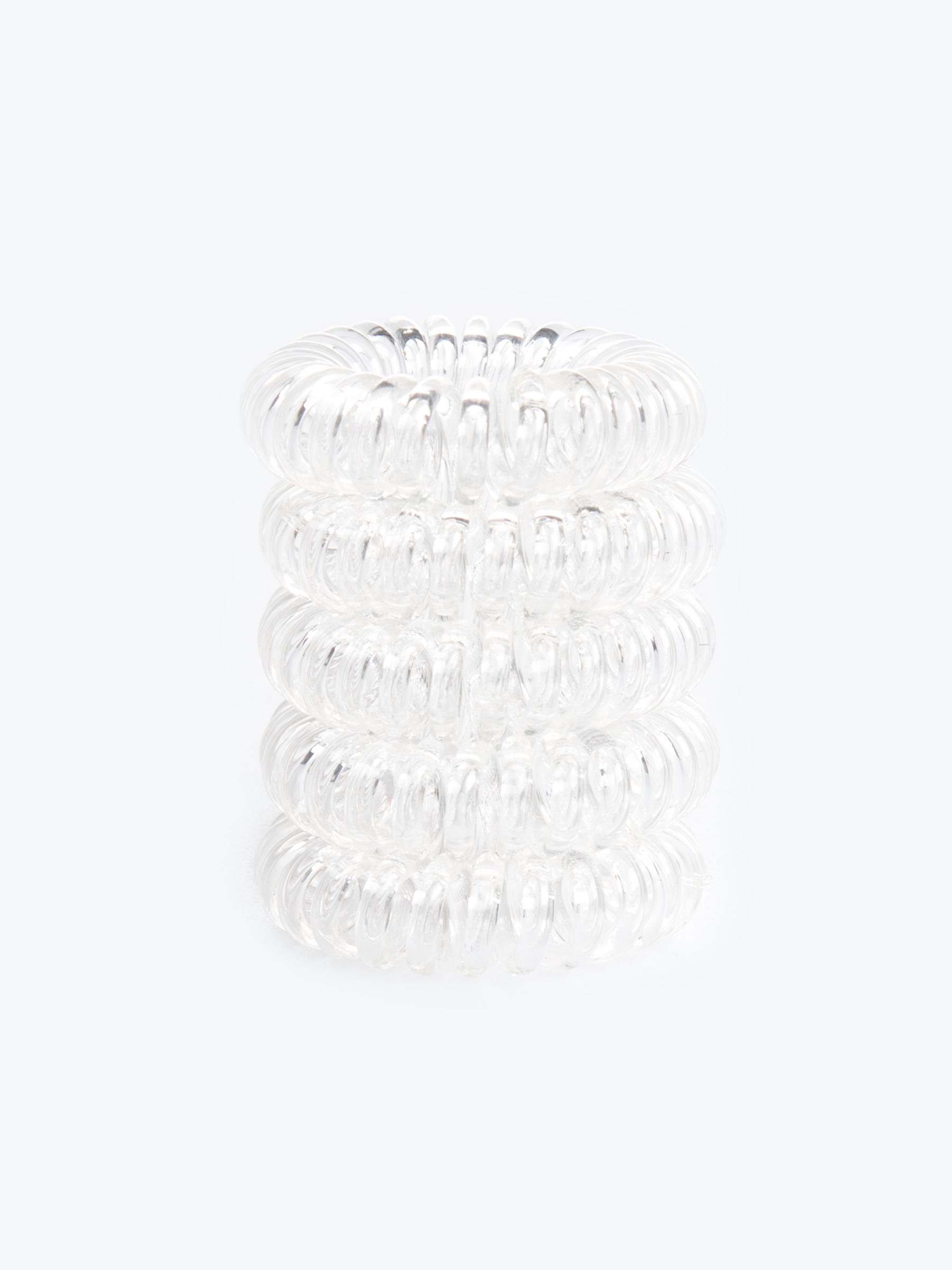 GATE Sada piatich plastových gumičiek do vlasov