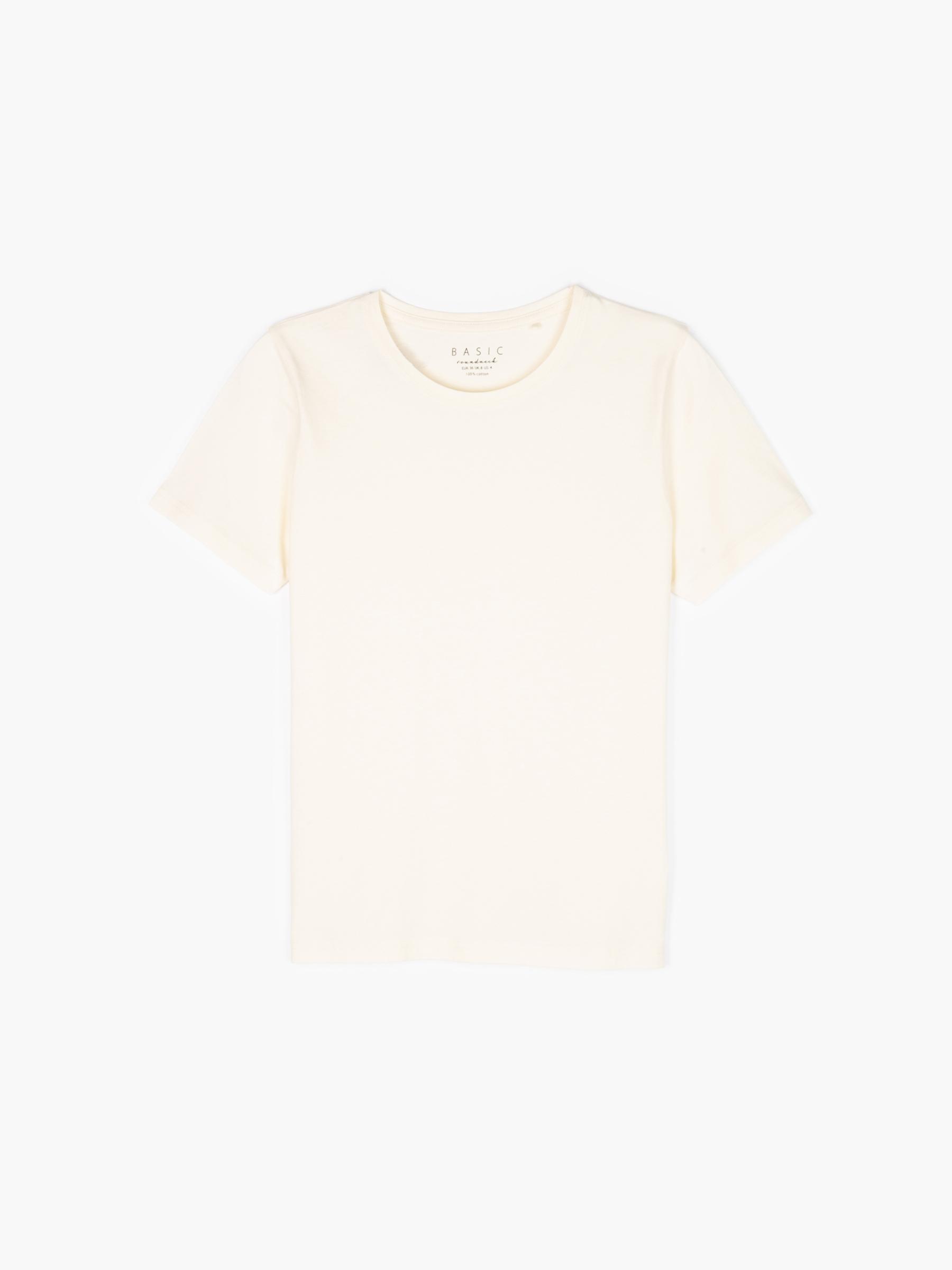GATE Základné bavlnené tričko s krátkym rukávom