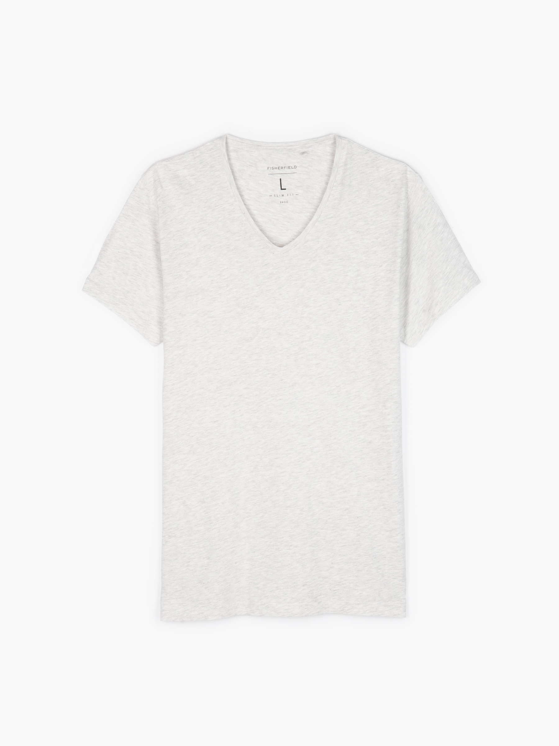 GATE Základné slim fit tričko s véčkovým golierom