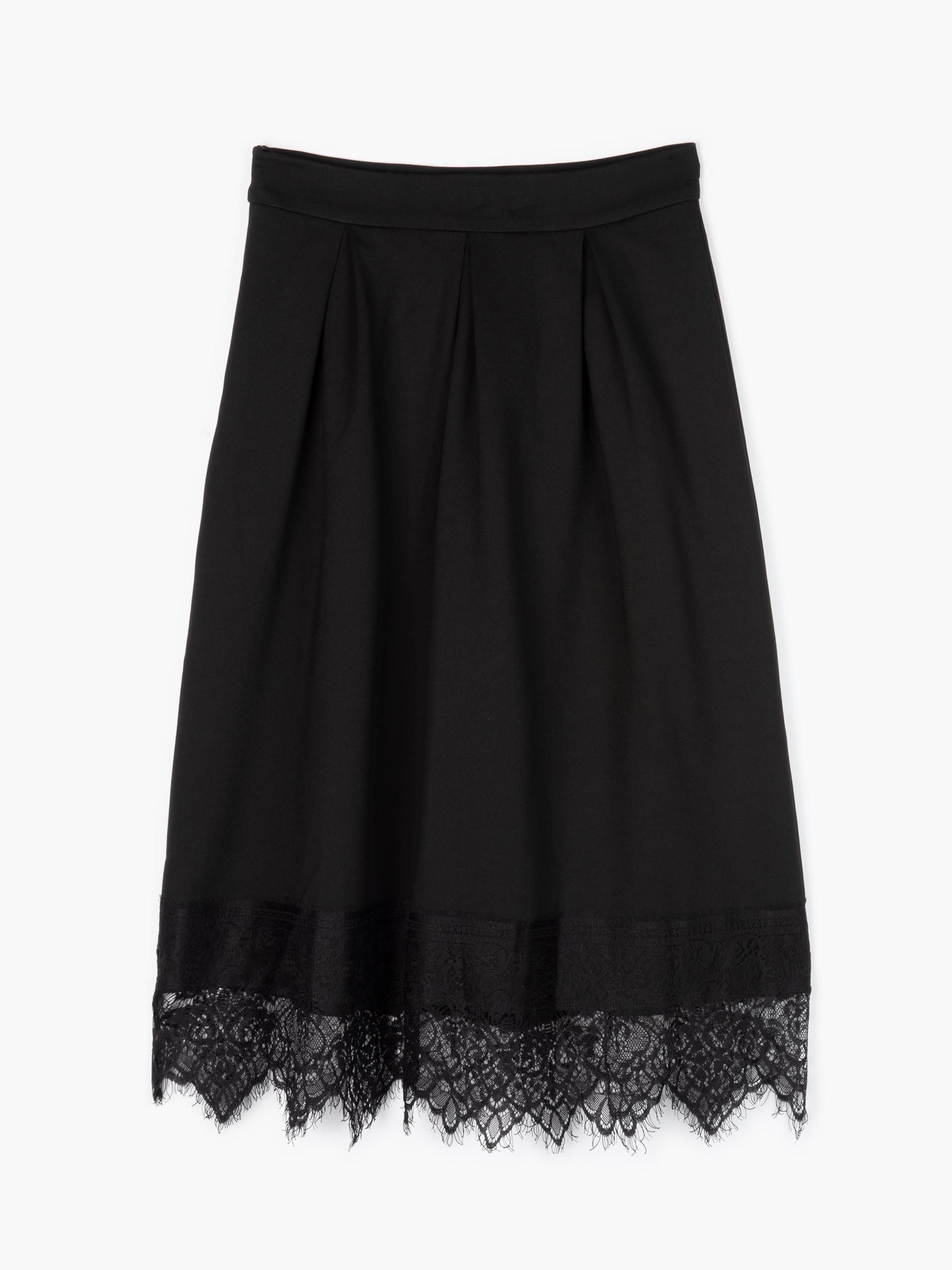 GATE Áčková sukně s krajkou