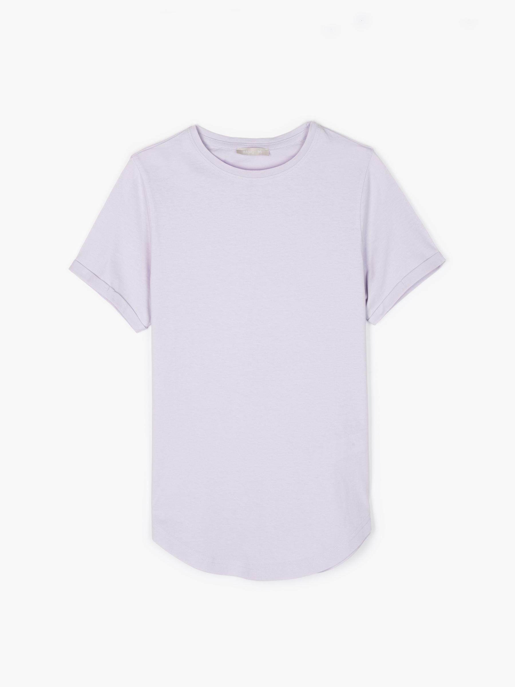 GATE Základní balvnené tričko s kulatým spodním lemem