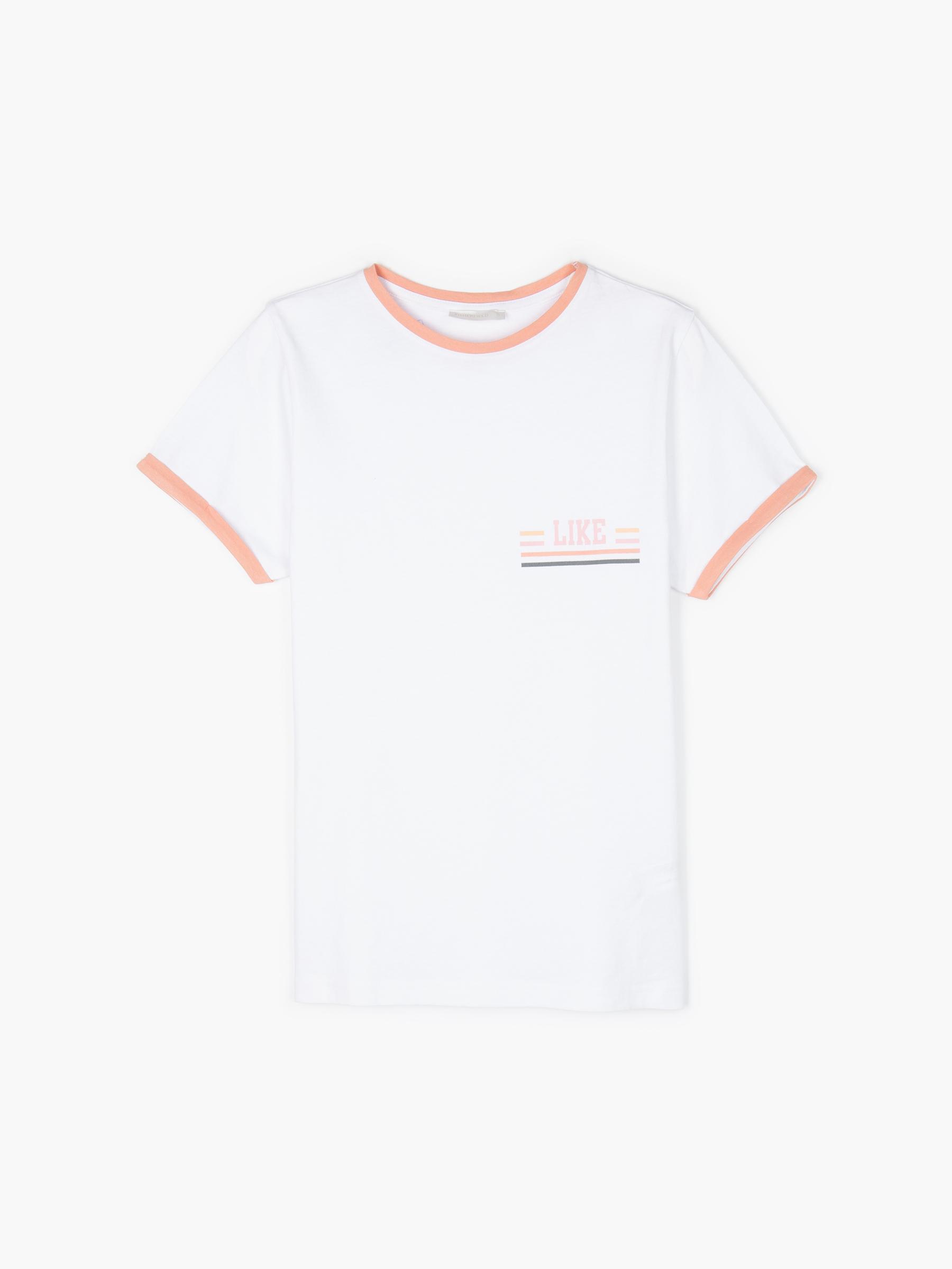 GATE Bavlněné tričko s kontrastním lemem