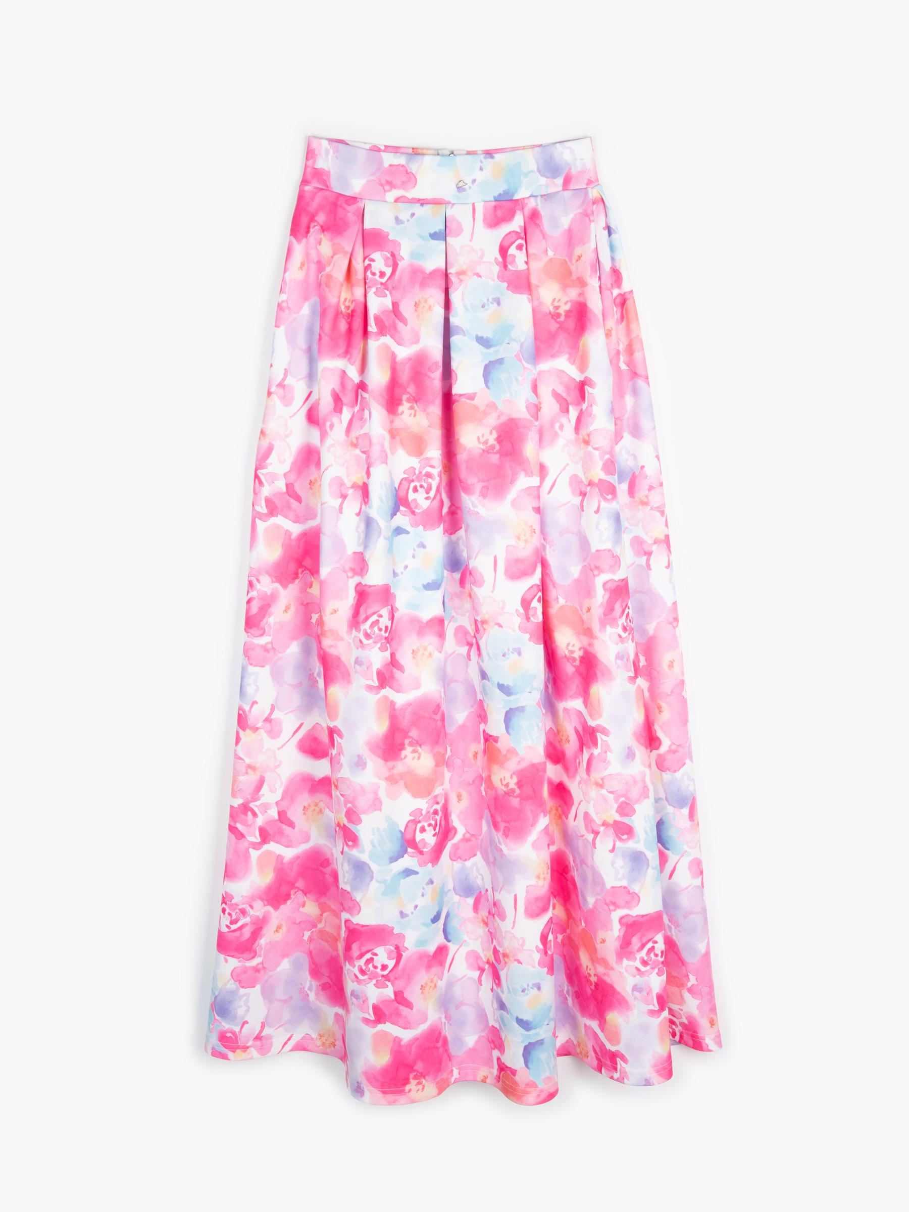 GATE Dlouhá sukně s kvetovaným potiskem