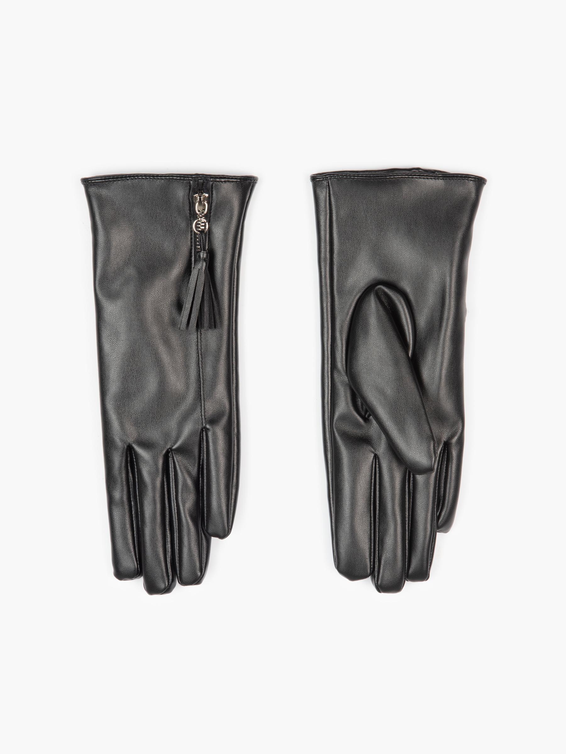 GATE Rukavice z umělé kůže se zipem dámské
