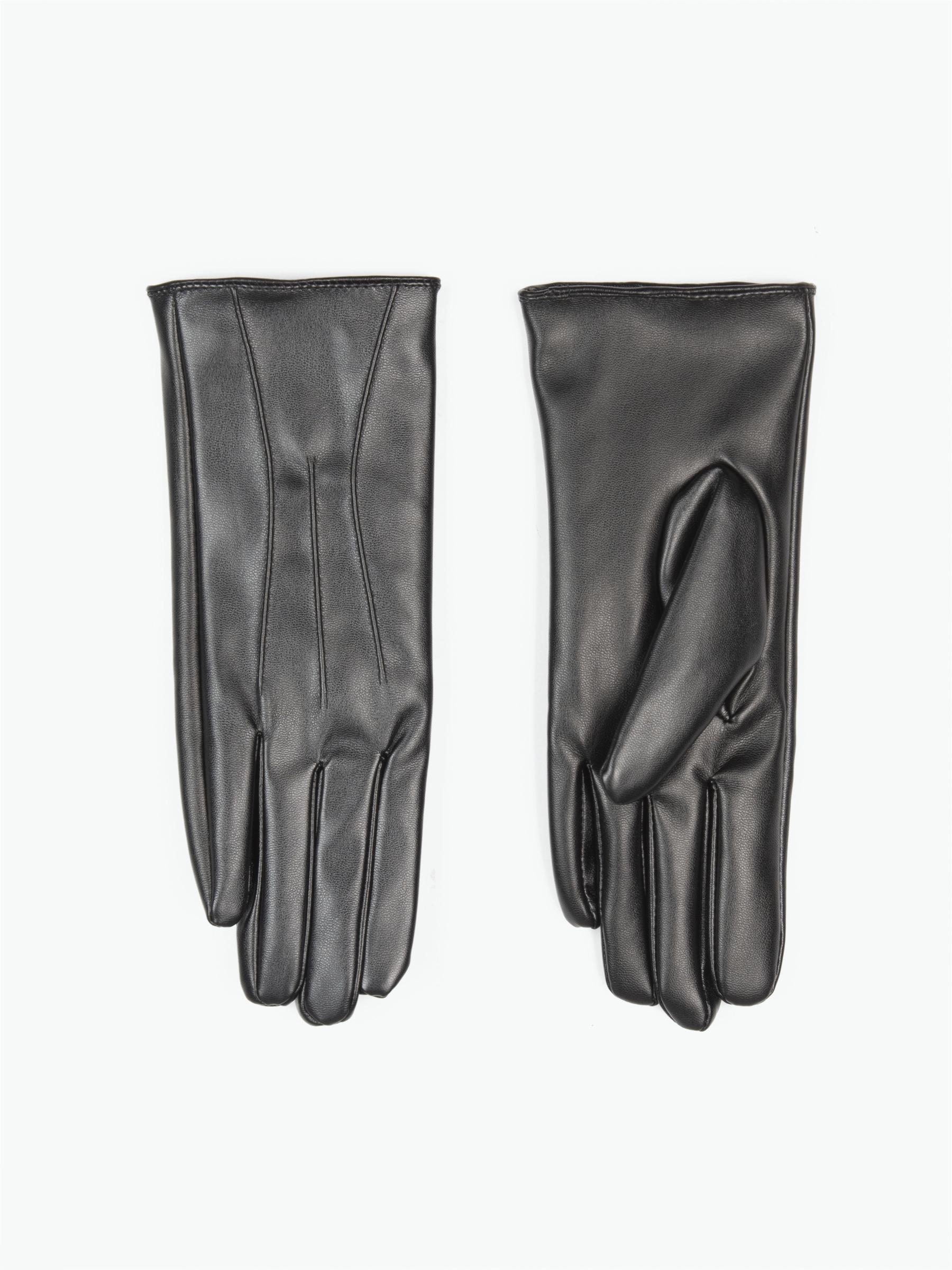 GATE Základní basic rukavice z umělé kůže dámské