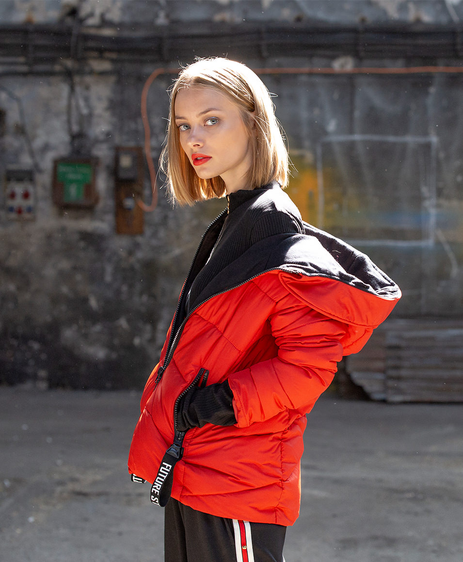 QUILTED JACKET WITH TAPES